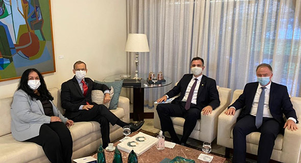 Governador se reúne com presidente do Senado sobre pautas do Estado. Foto: Adriano Zucolotto Governo ES